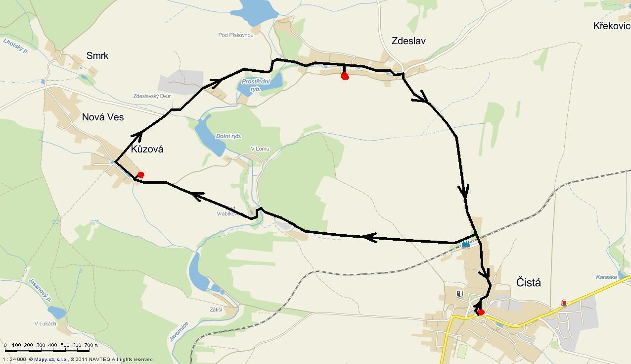 mapa běhu 2014